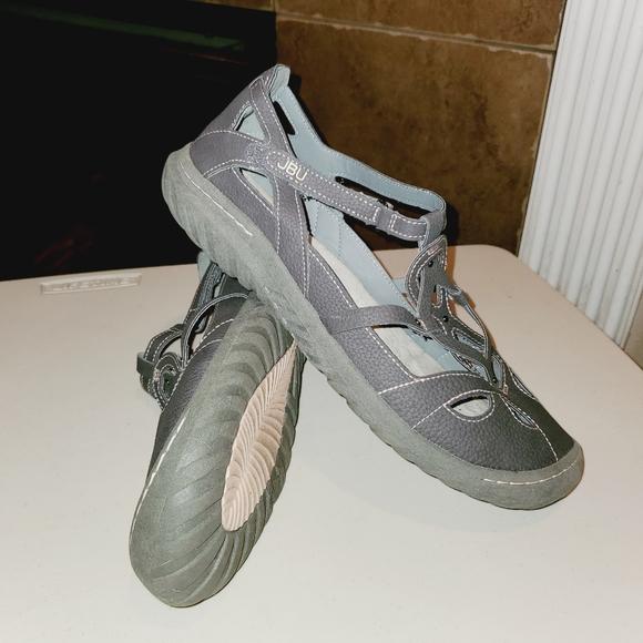 JBU By JAMBU Sydney Laser Cut Out Velcro Sandals